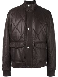 Michael Kors Padded Bomber Jacket Brown
