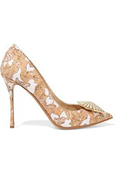 Nicholas Kirkwood Eden Embellished Cork And Faille Pumps Beige