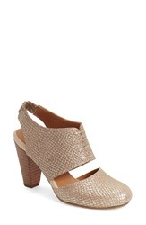 Women's Seychelles 'Whirl' Cutout Pump Gold Metallic Leather