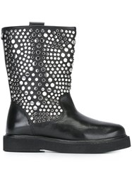 Twin Set Studded Boots Black