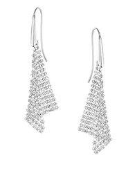 Swarovski Triangle Drop Earrings Silver