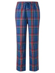 Ralph Lauren Polo Brighton Check Woven Cotton Lounge Pants Blue Red
