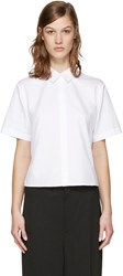 Alexander Wang T By White Poplin Cut Out Shirt