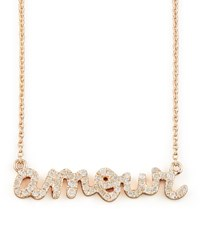 Diamond Amour Necklace Sydney Evan Rose Gold