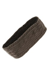 Echo Knit Headband Gunmetal
