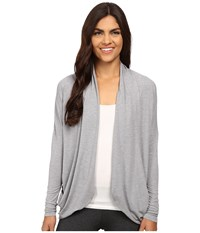 Lucy Enlightening Wrap Sleet Grey Heather Women's Long Sleeve Pullover Gray