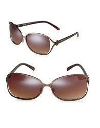 Sam Edelman 64Mm Oval Sunglasses Bronze
