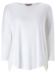 Phase Eight Terrie Textured Back Top Ivory
