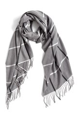 Nordstrom Women's Plaid Cashmere And Wool Scarf