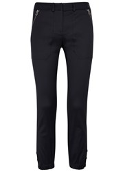 Veronica Beard Dune Navy Cropped Trousers