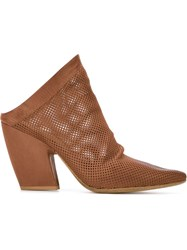 Marsa Ll Perforated Mules Brown