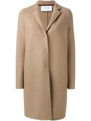 Harris Wharf London Cocoon Coat Nude And Neutrals