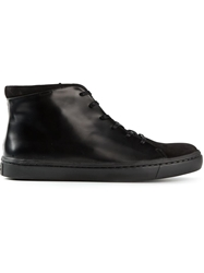 Opening Ceremony Two Tone Hi Top Sneakers Black