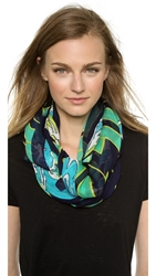 Theodora And Callum Miami Beach Scarf Turquoise Multi