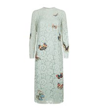 Valentino Embroidered Lace Dress Female Light Blue