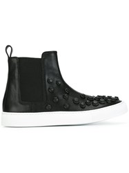 Dsquared2 'Tux' Hi Top Slip On Sneakers Black