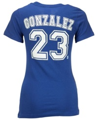 5Th And Ocean Women's Adrian Gonzalez Los Angeles Dodgers Foil Player T Shirt Royalblue