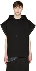 Juun.J Black Side Zip Sleeveless Hoodie