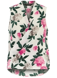 Dorothy Perkins Floral Sleeveless Wrap Ivory