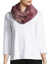 Collection 18 Marled Knit Loop Scarf Red