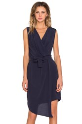 Viktoria Woods Campri Wrap Dress Navy