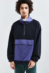 Urban Outfitters Uo Erving Half Zip Sweatshirt Black