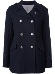 Lardini Double Breasted Coat Blue