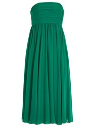 Reiss Athena Strapless Dress Emerald Green