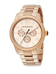 Saks Fifth Avenue Rose Goldtone Stainless Steel Chronograph Watch