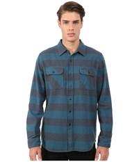 Rip Curl Avalon Long Sleeve Flannel Tapestry Men's Long Sleeve Button Up Gray