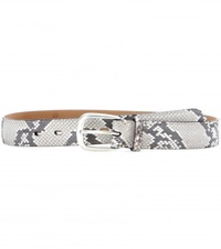 Fausto Colato Python Leather Belt Grey