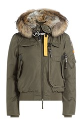 Parajumpers Gobi Down Bomber Jacket With Fur Trimmed Hood Gr. S