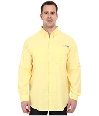 Columbia Big Tall Tamiami Ii L S Sunlit Men's Long Sleeve Button Up Yellow