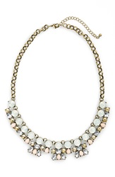 Bp Two Row Statement Necklace Ivory Gold