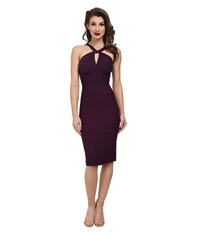 Stop Staring Jolie Fitted Dress Eggplant Women's Dress Purple