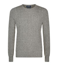 Polo Ralph Lauren Cashmere Cable Knit Jumper Male Light Grey