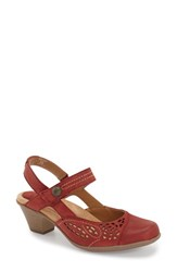 Women's Earth 'Bantam' Mary Jane Pump Red Vintage Leather