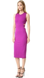 Cushnie Et Ochs Sleeveless Cutout Dress Orchid