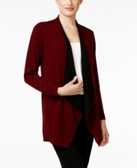 Charter Club Petite Cashmere Draped Front Cardigan Only At Macy's Cc Crantin
