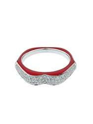 Raphaele Canot Omg Diamond Enamel And White Gold Ring