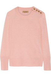 Burberry Button Detailed Cashmere Sweater Pastel Pink