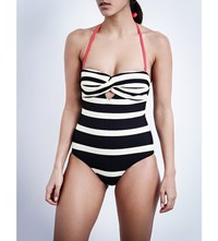 Ted Baker Cirana Striped Swimsuit Navy