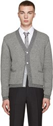 Thom Browne Grey Camel Hair Cardigan
