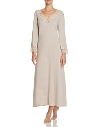 Natori Lhasa Lounger Long Gown Cashmere Ivory Lace