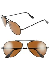 Women's Randolph Engineering 'Concorde' 57Mm Polarized Aviator Sunglasses Matte Black Tan Polarized