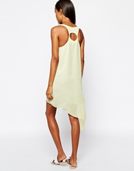 Aryn K Asymmetric Colour Block Dress Cygy