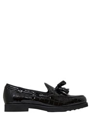 Tod's 20Mm Embossed Patent Leather Loafers