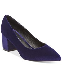 Steve Madden Steven By Women's Bambu Velvet Pointed Toe Pumps Women's Shoes Blue