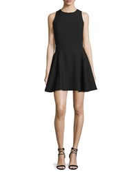 Halston Sleeveless Fit And Flare Mini Dress Black