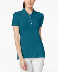 Tommy Hilfiger Solid Polo Top French Blue